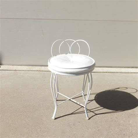 small metal vanity chair vintage vanity stool regency chic vanity chair