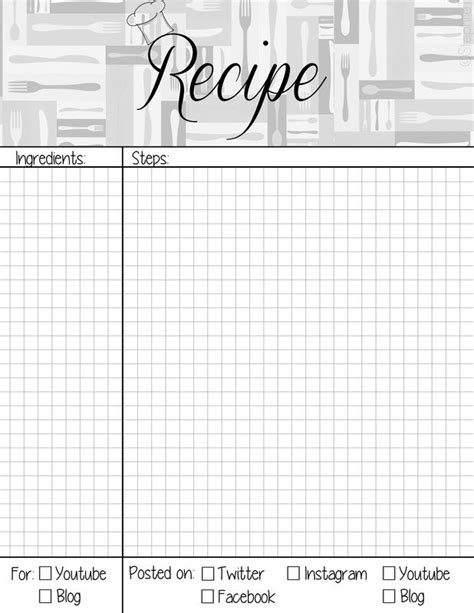 s blank recipe book a journal with templates to write and organize all your favorite recipes s cooking series volume 2 books recipe book page planner agenda weekly template free