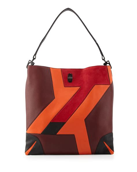 Patchwork Leather Handbag - sullivan patchwork leather hobo bag bordeaux rag bone