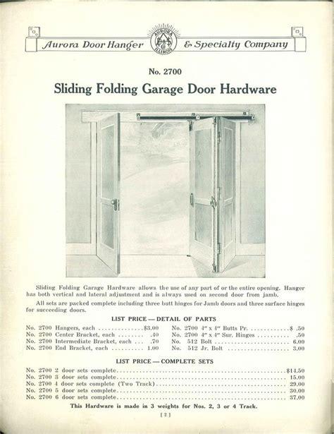 Folding Garage Door Hardware Sliding Folding Garage Door Hardware From Quot Garage Door Hardware Quot Published By Door Hanger