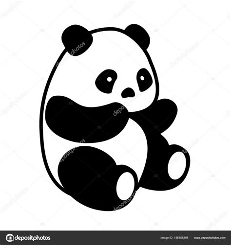 St Pandablack vector de panda vector de stock 169 viktorijareut 156858398