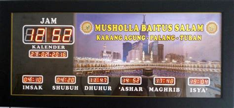Jam Digital Masjid Musholla kabupaten sidoarjo archives pusat jam digital masjid