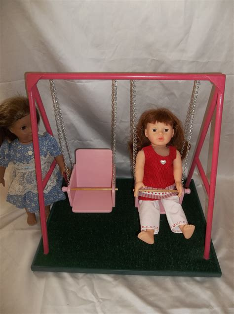 girls swing set swing set for american girl doll and all 18 by