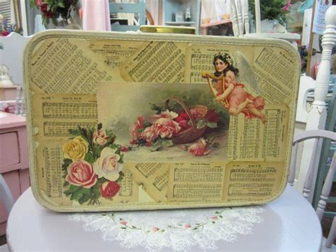 Decoupage Vintage Suitcase - 17 best images about suitcase decoupage neat on