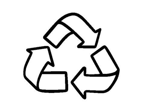 recycling symbol coloring page coloringcrew com