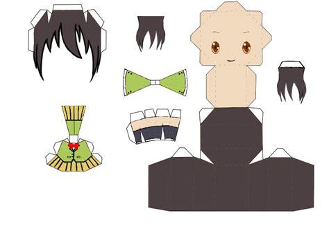 Papercraft Base - mi mundo de eumotaku papercraft chibic bases