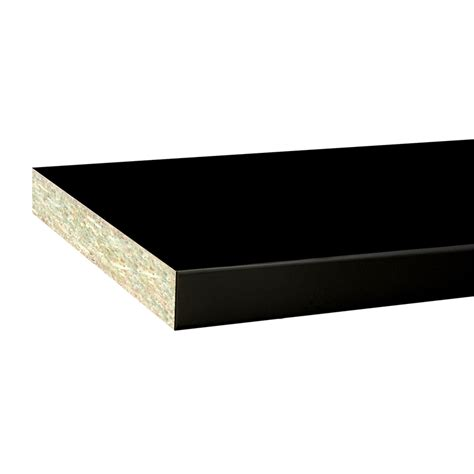 inbuilt colourboard 1800 x 445 x 16mm black e1i melamine sheet