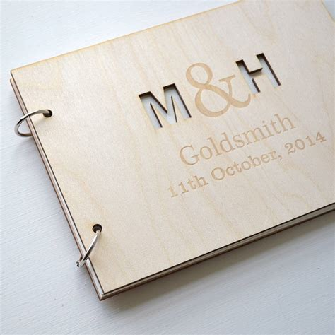 picture guest book wedding personalised initials guest book by clouds and currents