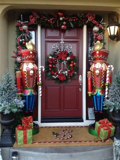 decorative nutcrackers for christmas 40 stunning porch ideas