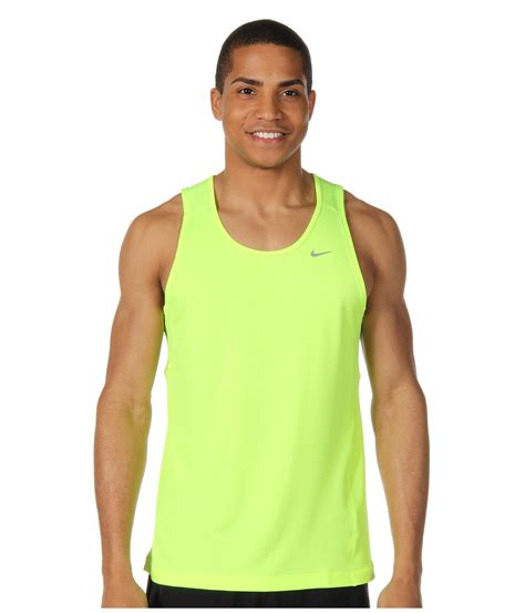 Singlet Nike nike miler singlet team in green for lyst