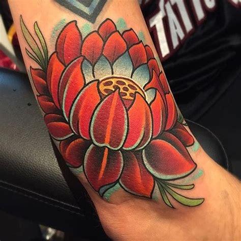 35 vintage lotus tattoo ideas golfian com