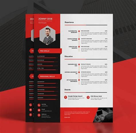 1000 ideas about cv template on pinterest resume