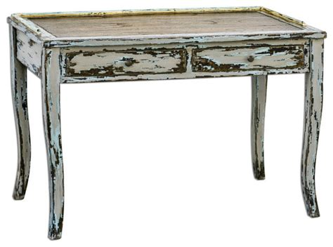 distressed desk honovi distressed writing desk traditional console