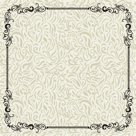 pattern vintage psd vintage decoration pattern with frame vector 01 free
