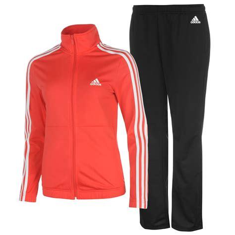 adidas tracksuit adidas womens back 2 basics 3 stripes tracksuit sports