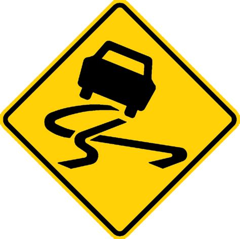 printable road signs australia slippery road sign clipart best