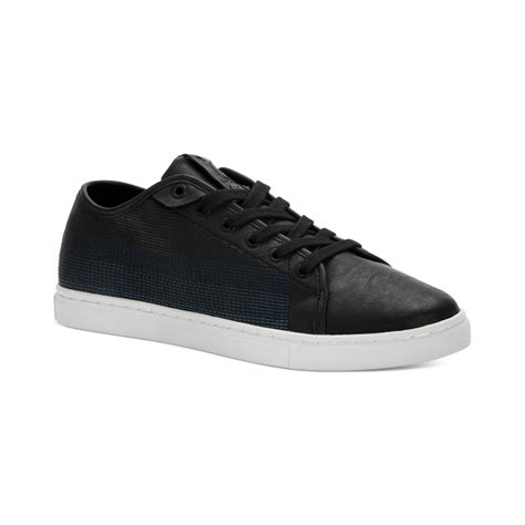 calvin klein sneakers mens calvin klein hartman low sneakers in black for