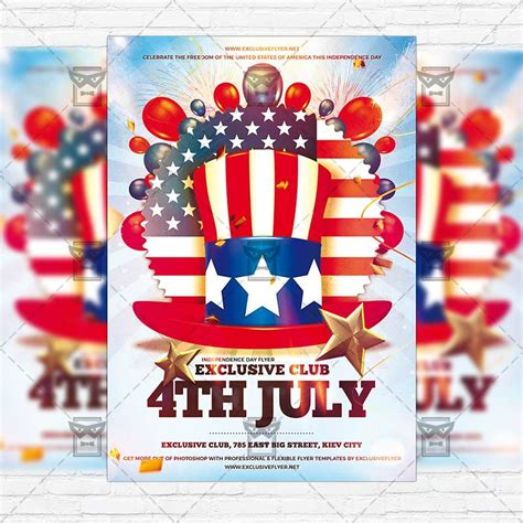 4th Of July Premium Flyer Template Instagram Size Flyer Exclsiveflyer Free And Premium Instagram Flyer Template