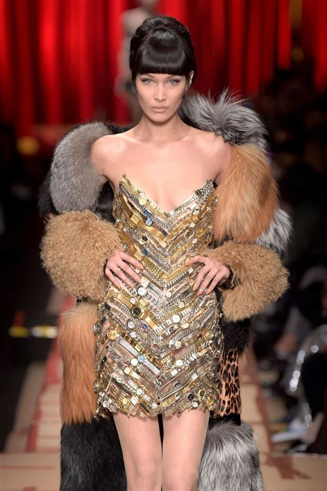 Milan Fashion Week by Hadid Hit The Catwalk For Moschino Milan Fashion