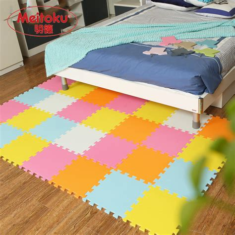 Evamats Puzzle Polos 30 X 30 Pink 10 Pcs T2909 meitoku baby foam play puzzle mat 18 or 24 lot interlocking exercise tiles floor mat for