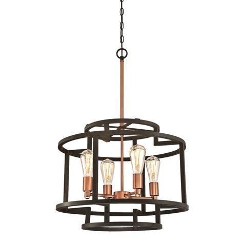 Westinghouse Weston 4 Light Oil Rubbed Bronze and Washed Copper Chandelier 6328100 The Home Depot