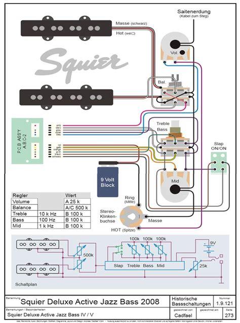 fender deluxe jazz bass wiring diagram efcaviation