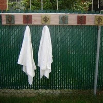 Pool Side Towel Rack by Idea For Towel Hooks By Pool Pergola
