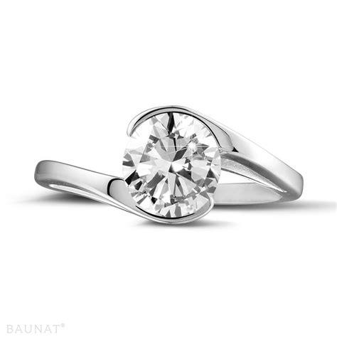platinum engagement rings 1 25 carat baunat