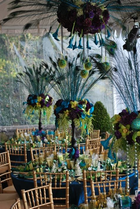 Peacock Wedding Decorations by Peacock Table Decorations