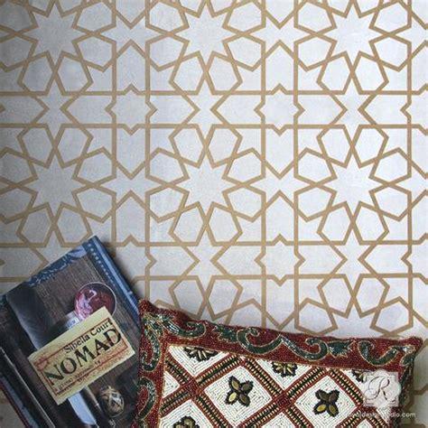 pattern wall ideas moroccan stencils create moroccan pattern decor with