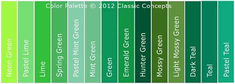 colors of green green color chart search inspiration