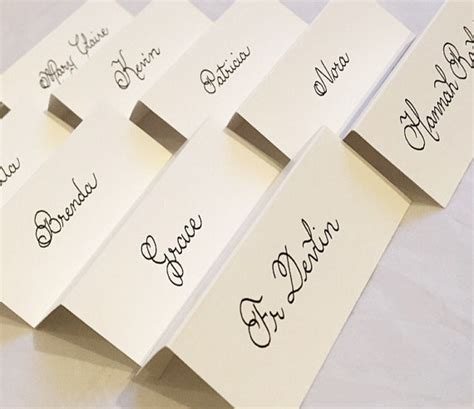 unique place cards wedding place cards name cards handwritten in calligraphy