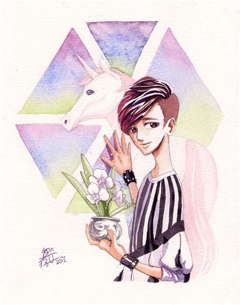 exo anime exo lay watercolour by labapo999 on deviantart