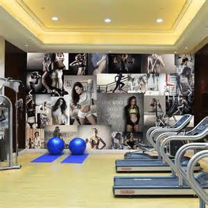 Gym Wall Murals free shipping gym background wall wallpaper mural sports