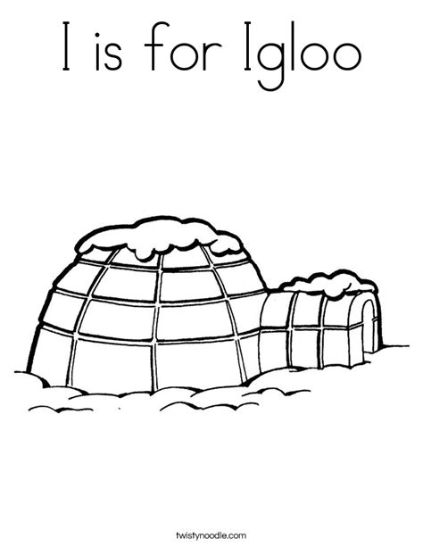 igloo coloring page free i is for igloo coloring page twisty noodle