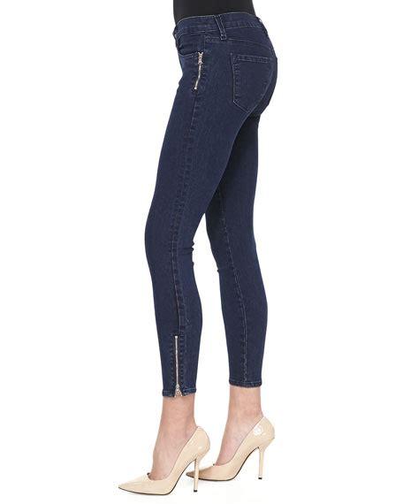 Jaket Croppe Sweater Tali Tulia j brand tali cropped zip blue depth