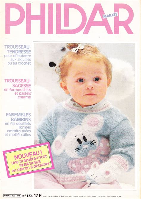 baby knitting magazine phildar n 176 122 ok baby catalog tricot