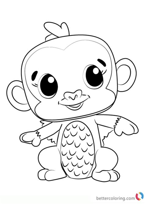 coloring page hatchimals monkiwi from hatchimals coloring pages free printable