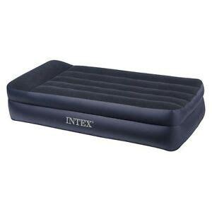 intex pillowrest high air mattress with built in