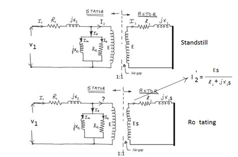 3 phase induction machine equivalent circuit equivalent circuit of a three phase induction motor electrical engineering stack exchange