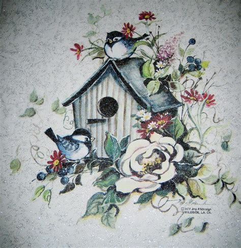 birdhouse lovely birds florals magnolia flowers glimmer fabric quilt panel block ebay