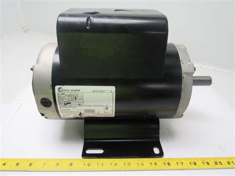 starting capacitors for electric motors century b384 5 hp air compressor electric motor capacitor start run 208 230v ebay