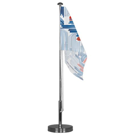 Desk Flag Pole by Table Top Advertising Flag Support Base Telescoping Mini