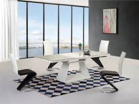 Black High Gloss Dining Table And 6 Chairs Black White High Gloss Glass Extending Dining Table 6