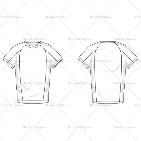 Men S T Shirt Fashion Flat Template Illustrator Stuff T Shirt Template Sketch