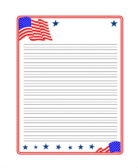 printable kindergarten notebook paper printable lined paper sle 8 exles in pdf word