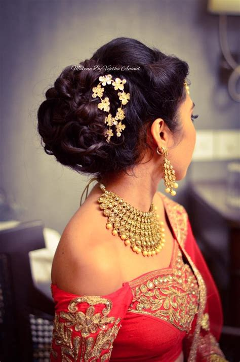 Wedding Reception Hairstyles For Indian by Indian S Reception Hairstyle By Vejetha For Swank