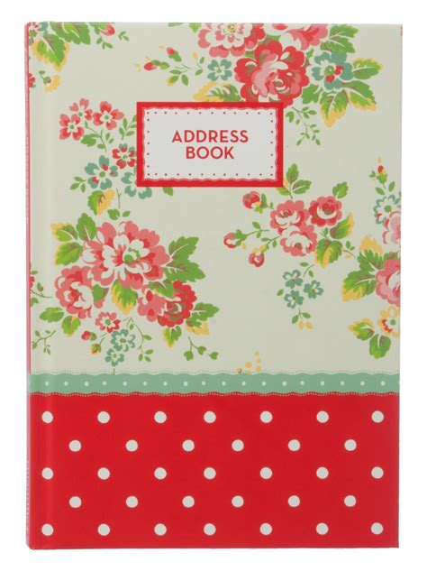 Cover Letter For Cath Kidston Cath Kidston Large Floral Print With Polka Dot Panel Address Book Ebay