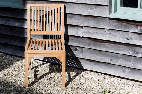 Teak Outdoor Furniture Uk Comfortable Teak Dining Chair Matching Bench Suits Any