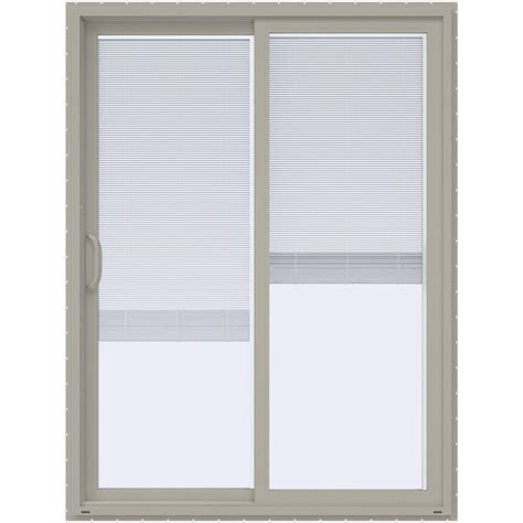 60 Sliding Patio Door by Jeld Wen 60 In X 80 In V 4500 Desert Sand Prehung Left